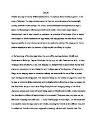 othello essay  how iago uses language to deceive    gcse english    page  zoom in