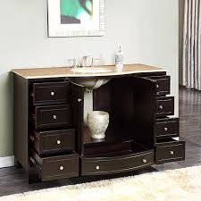 55 inch double sink bathroom vanity: silkroad  inch single sink bathroom vanity travertine top silkroad  inch single bathroom vanity travertine top