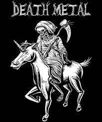 """<b>Unicorn Death Metal Rocker</b> Go To Hell Shirt"" Poster by ..."
