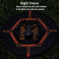 """AURTEC <b>Drone</b> Landing Pad 32""""(80cm) with [2 LED Lights] [4 <b>ABS</b> ..."""