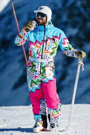 <b>Men's</b> Retro Neon <b>Ski Suit</b> | The Geodisiac