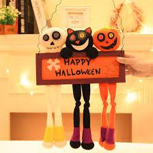 2017 New DIY <b>halloween decoration</b> door hanging horror window ...