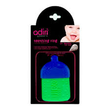 <b>Прорезыватель</b> для зубов <b>Adiri Bottle Teething</b> Ring, cyan-green ...
