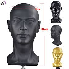 <b>Bald Mannequin Head</b> For Making Wigs With Stand 22 Inch Rubber ...