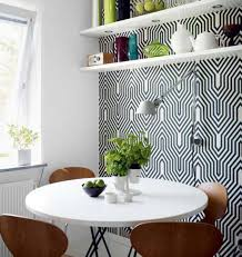dining room wall decorating ideas: full size of dining room wall decor with monochromatic linear pattern of covering for small combined