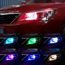 T10 <b>5050</b> Car Light Color <b>LED</b> Bulbs <b>RGB 6SMD</b> Wedge Remote ...