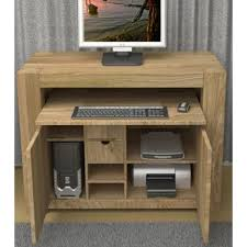 atlas chunky oak hidden home office desk atlas oak hidden home