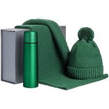 <b>Набор Warmer Brothers</b>, <b>зеленый</b> купить с нанесением логотипа ...