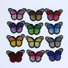 12pcs lot 7x5cm mix color transparent butterfly sequins flowing appliques diy accessories craft handmade decoration