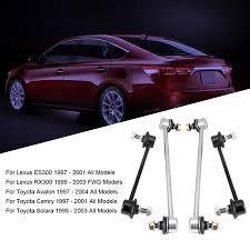 Yosoo <b>4pcs Front</b> & <b>Rear</b> Stabilizer Sway Bar End Link Kit for Toyota ...