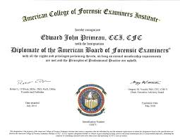forensic expert certifications and training acfei dabfe