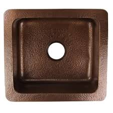 hammered copper kitchen sink:  inch copper undermount hand hammered kitchen sink