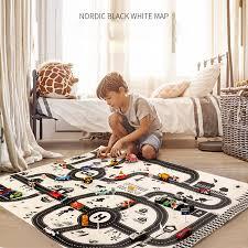 <b>130*100CM Kids</b> Car Toys City PARKING LOT Roadmap Map <b>DIY</b> ...