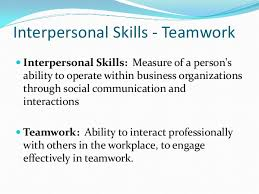 team work amp interpersonal skills