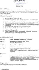 nursing cv template for excel  pdf and wordsample cv nursing