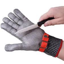 Anti <b>cut</b> Gloves <b>Safety Cut Proof</b> Stab <b>Resistant</b> Stainless Steel Wire ...