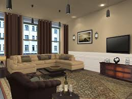 Small Living Room Color Luxury Beige Themed Living Rooms With L Shaped Sofa Soft Sponge Of