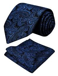 Alizeal Handmade <b>Paisley Floral Tie</b> with Pocket Square Gift <b>Set</b>