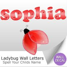 lying blooms beneath wall sticker baby bedroom wall decorations ladybug alphabet letter wall stickers wall decoration