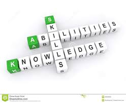skills knowledge ability criteria job candidate interview stock abilities skills and knowledge royalty stock image