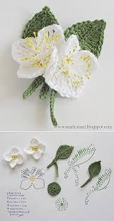 Вязаные цветы и листья   <b>Вяжем</b> Украшения   Вязаные цветы ...