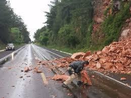 Resultado de imagem para deslizamento em rodovias