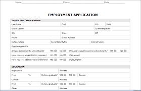 employment application form template anuvrat info job application template template for job application employment