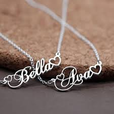Handmade <b>Personalized</b> Name Pendant With Tiny Heart Cursive ...