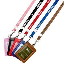Nylon Lanyards+<b>metal</b> Length <b>Adjuster</b>+leather Badge Holder ...