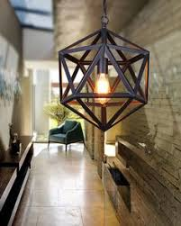 small size industrial style matte black iron cage pendant light cage lighting pendants