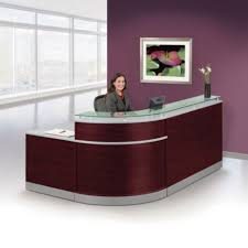 Glass Top Reception Desk  95u0026quotW X
