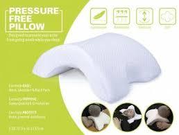 <b>Pressure Free Pillow Sleep</b> Ease to Neck/Shoulder/Back Improve ...