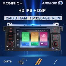 Xonrich AutoRadio <b>1 Din Android 10</b> Car DVD Player For BMW E46 ...