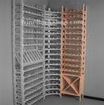 "5 bottle wide wood <b>wine racks</b> at <b>21</b>-3/8"" wide custom made of ..."