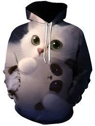 <b>Men's Cute</b> Cat Lovely <b>Pet Print</b> 3D Hoodie Casual Sale, Price ...