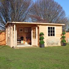 4m x 3m waltons home office executive log cabin on walton garden buildings big garden office ian