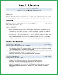 student downloads objectives in resume for nurses