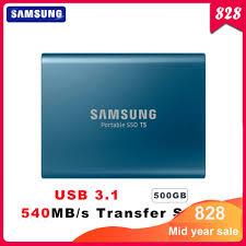 Samsung <b>PC Портативный</b> T5 SSD 500 Гб внешние ...