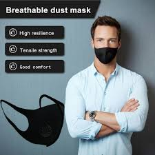 <b>Black Breathable</b> Mouth <b>Mask</b> Reusable Anti Pollution Face Shield ...