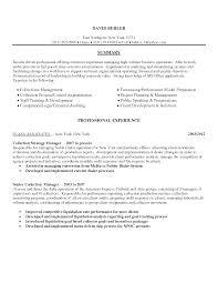 resume debt collection resume creative debt collection resume