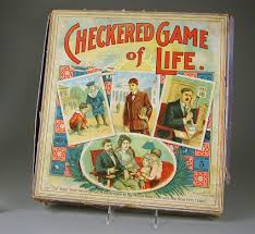 Board game:The Checkered <b>Game of Life</b> - Milton Bradley Co ...