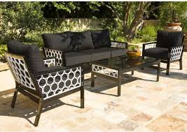 black and white outdoor sofa lounge chair and table contemporary patio black and white patio furniture