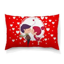 <b>Подушка</b> 60×<b>40 см</b> с полной запечаткой День влюблённых ...