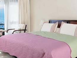 "<b>Покрывало Amore</b> Mio ""Alba"", цвет: розовый, зеленый, <b>200 х 220</b> ..."