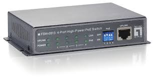 4-<b>Port High Power</b> PoE + <b>1</b> FE Switch