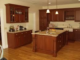 Kitchen Islands With Granite Countertops Brown Wooden Kitchen Cabinets And Island With Granite Countertop
