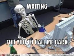 Waiting For You To Call Me Back Skeleton Computer Meme Picture ... via Relatably.com