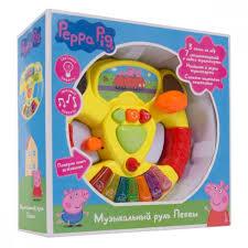 Купить игрушку <b>Peppa Pig Музыкальный руль</b> colorful в Москве ...