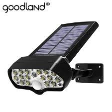 <b>Shark LED Solar Light</b> PIR Motion Sensor Solar Lamp Waterproof ...
