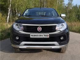 Купить <b>Защита передняя нижняя</b> (<b>овальная</b> с ДХО) 75х42 мм Fiat ...